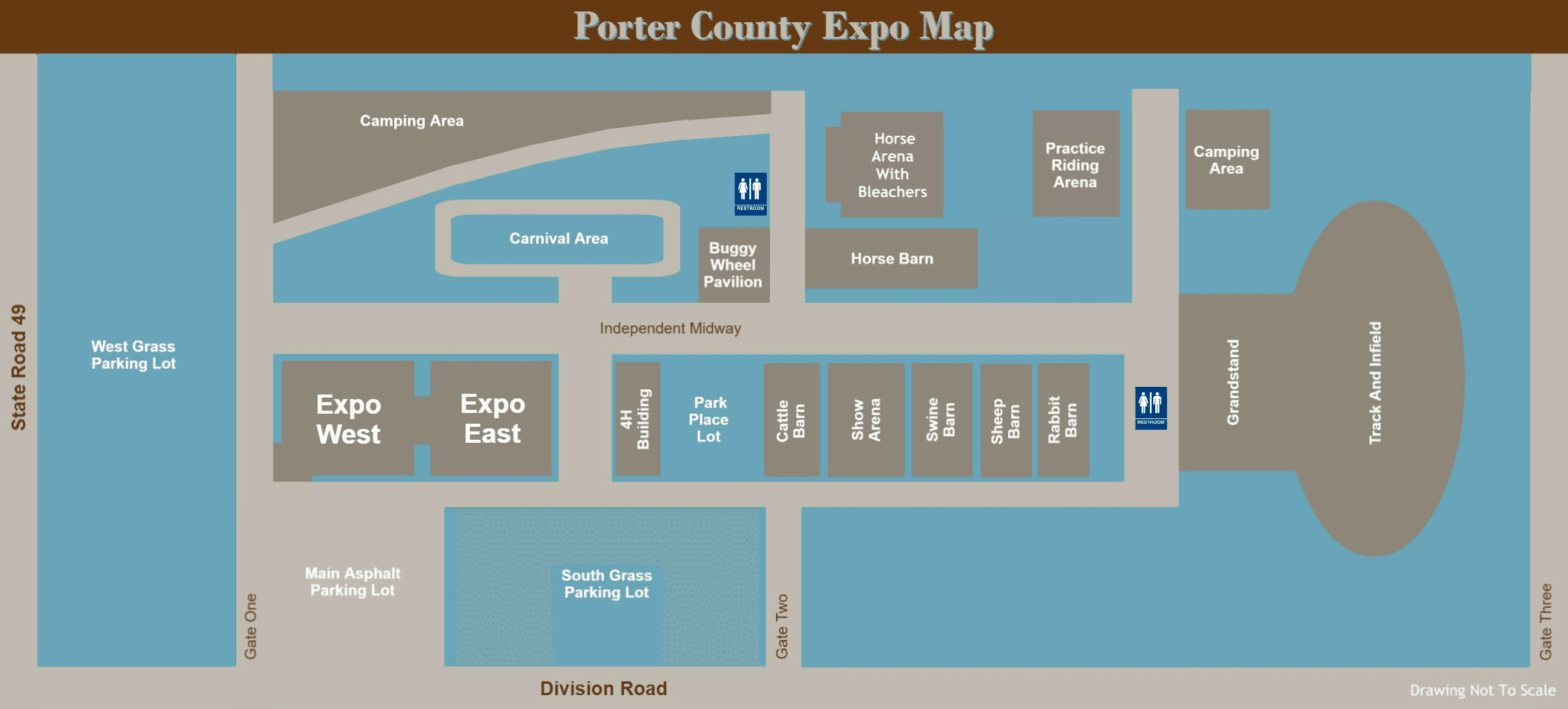 Map Of Porter County Expo Grounds