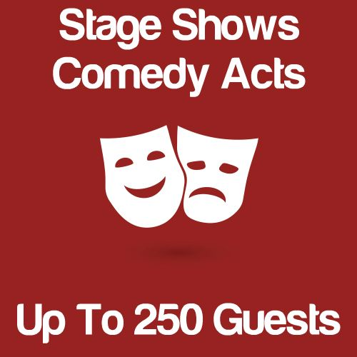 Stage Shows And Comedy Acts Up To 250 Guests Icon