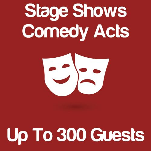 Stage Shows And Comedy Acts Up To 300 Guests Icon